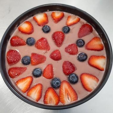 Tarta de Fresas y Queso de Almendras